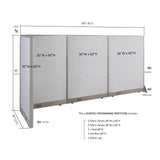 GOF Office L-Shaped Partition 30D x 102w x 60H - Kainosbuy.com