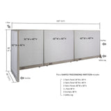 GOF Office L-Shaped Partition 30D x 132w x 48H - Kainosbuy.com