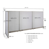 GOF Office L-Shaped Partition 30D x 132w x 72H - Kainosbuy.com