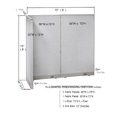 GOF Office L-Shaped Partition 30D x 72w x 72H - Kainosbuy.com