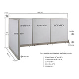 GOF Office L-Shaped Partition 48d x 108w x 48H - Kainosbuy.com