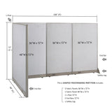 GOF Office L-Shaped Partition 48d x 108w x 72H - Kainosbuy.com