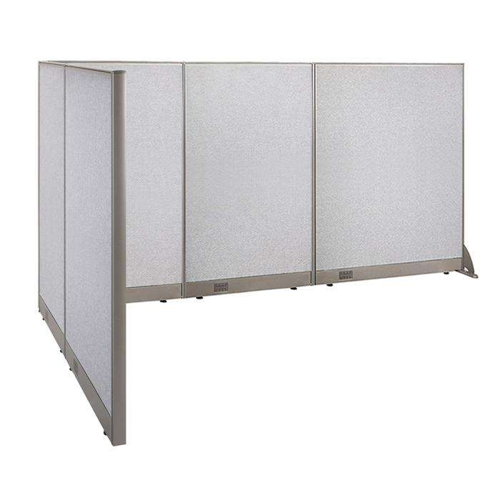 GOF Office L-Shaped Partition 66d x 120w x 60H - Kainosbuy.com