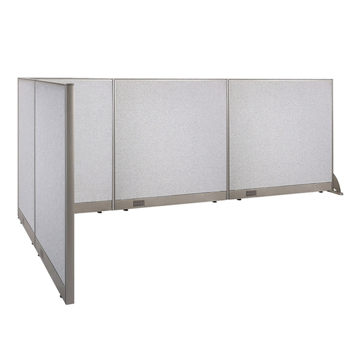 GOF Office L-Shaped Partition 66d x 132w x 48H - Kainosbuy.com
