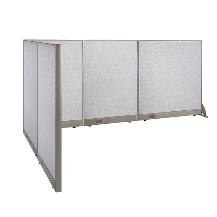 GOF Office L-Shaped Partition 72d x 120w x 48H - Kainosbuy.com