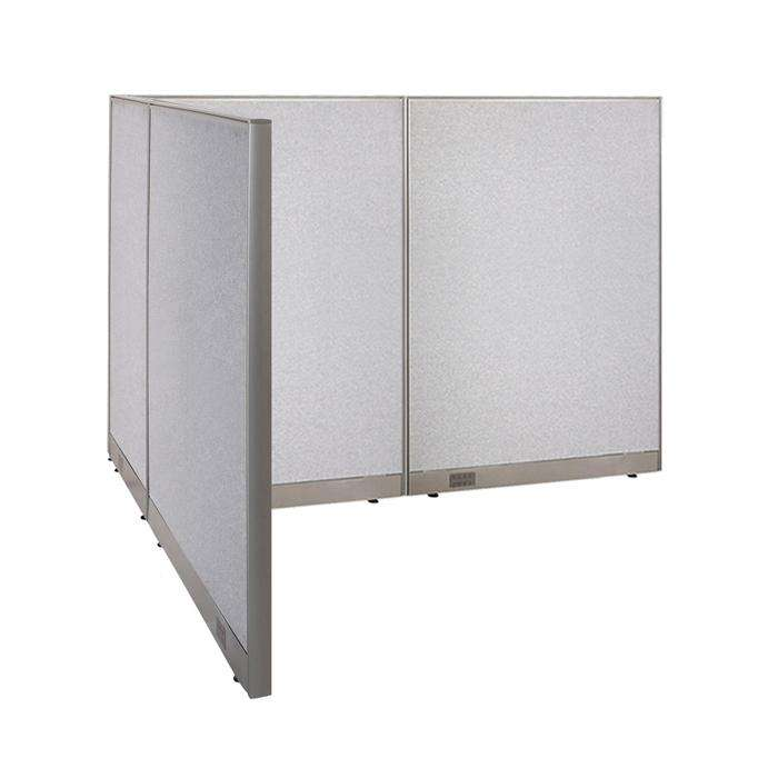 GOF Office L-Shaped Partition 78d x 96w x 60H - Kainosbuy.com