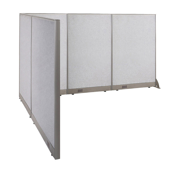 GOF Office L-Shaped Partition 84d x 108w x 60H - Kainosbuy.com