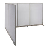 GOF Office L-Shaped Partition 84d x 120w x 72H - Kainosbuy.com