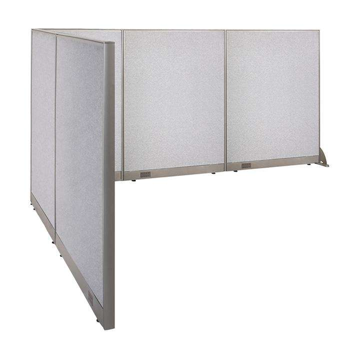 GOF Office L-Shaped Partition 84d x 132w x 60H - Kainosbuy.com