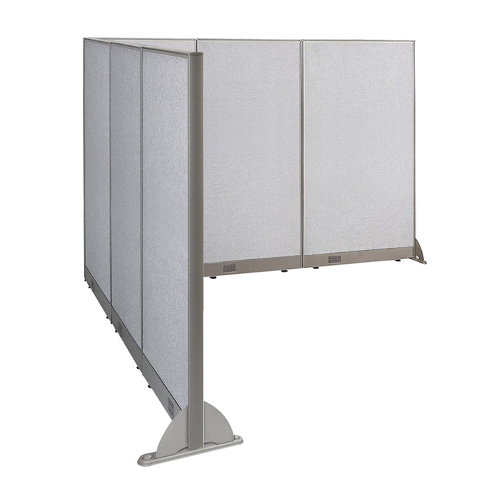 GOF Office L-Shaped Partition 90d x 114w x 72H - Kainosbuy.com