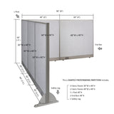 GOF Office L-Shaped Partition 90d x 96w x 48H - Kainosbuy.com