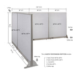 GOF Office L-Shaped Partition 96d x 132w x 60H - Kainosbuy.com