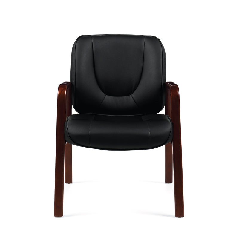 G11770B(CX) Luxhide Guest Chair with Wood Accents - Kainosbuy.com