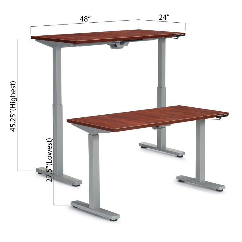"Height Adjustable Desk 48"" x 24"" - Kainosbuy.com"