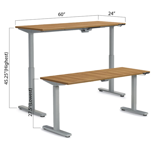 "Height Adjustable Desk 60"" x 24"" - Kainosbuy.com"