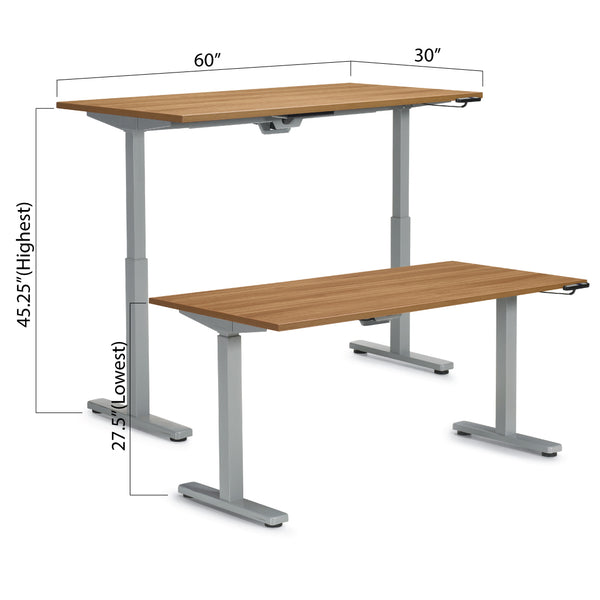 "Height Adjustable Desk 60"" x 30"" - Kainosbuy.com"