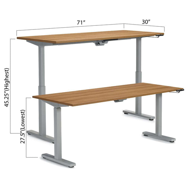 "Height Adjustable Desk 71"" x 30"" - Kainosbuy.com"