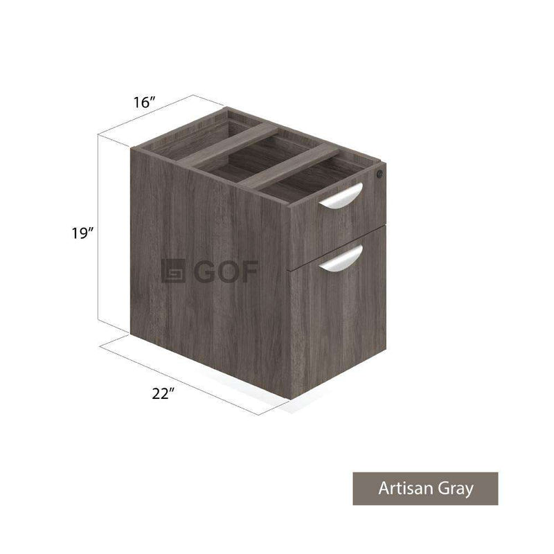 GOF 2 Person Workstation Cubicle (5'D  x 12'W x 6'H) / Office Partition, Room Divider - Kainosbuy.com