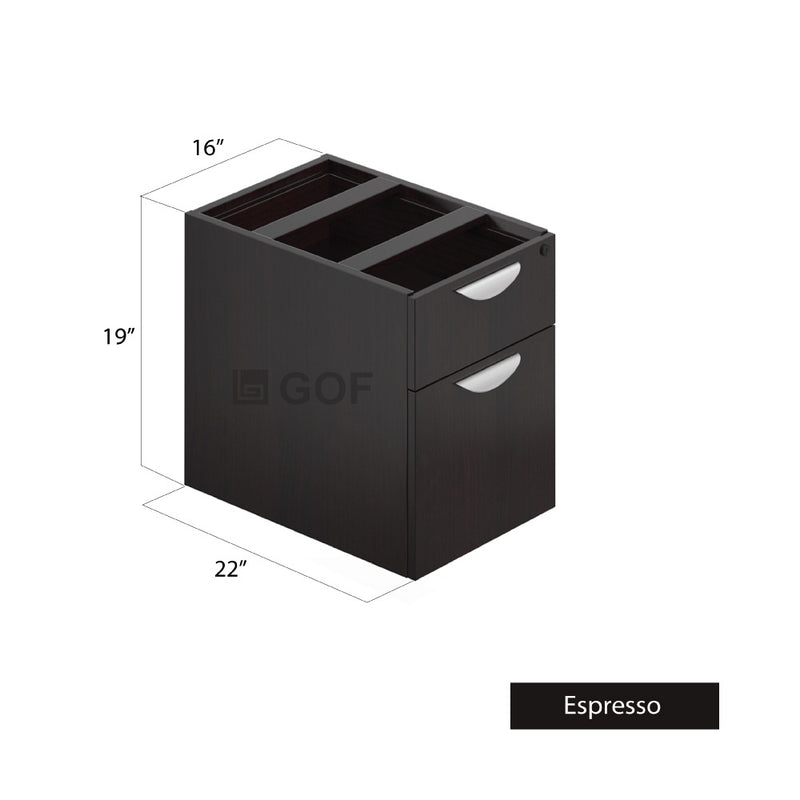 GOF 1 Person Workstation Cubicle (C-6'D x 6'W x 5'H) / Office Partition, Room Divider - Kainosbuy.com