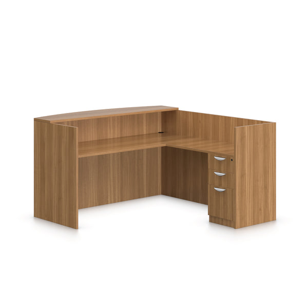 6' x 6' Reception Desk with B/B/F Pedestal - Kainosbuy.com