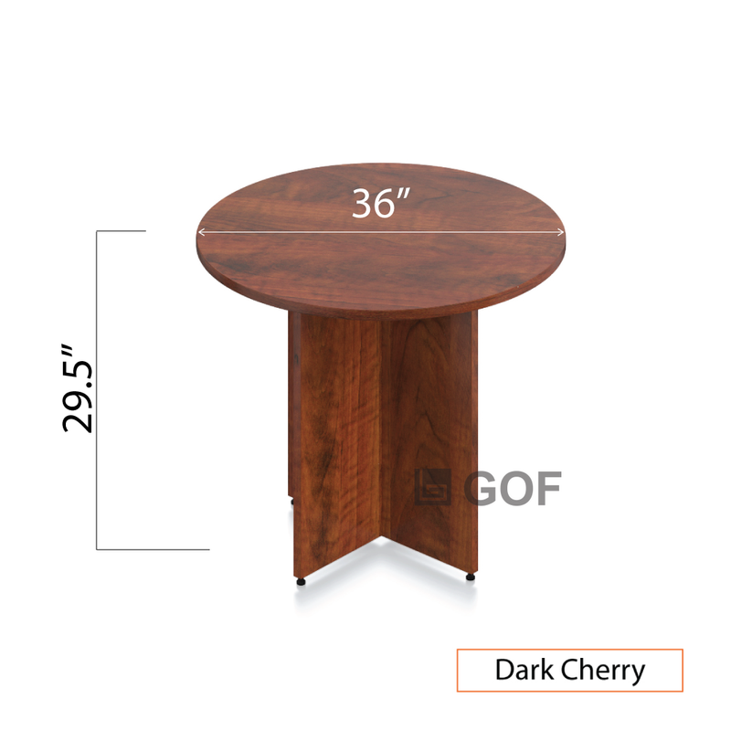 "36"" Round Table/Cross Base with 2 Chairs (G11650B) - Kainosbuy.com"
