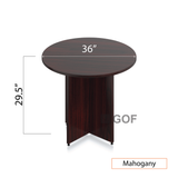 "36"" Round Table/Cross Base with 2 Chairs (G10900B) - Kainosbuy.com"