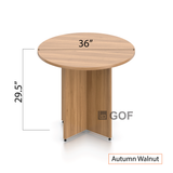 "36"" Round Table/Cross Base with 2 Chairs(G10902B) - Kainosbuy.com"