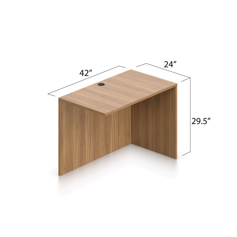 L71C - 6' x 5.5' L-Shape Workstation(Credenza Shell with B/B/F Pedestal) - Kainosbuy.com