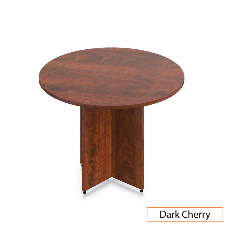 "42"" Round Table/Cross Base with 3 Chairs (G10900B) - Kainosbuy.com"