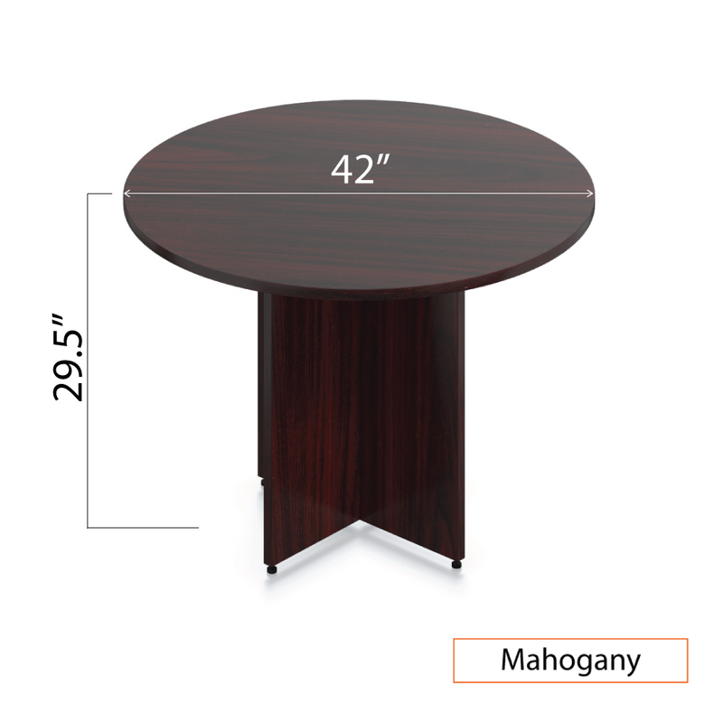 "42"" Round Table/Cross Base with 3 Chairs (G11642B) - Kainosbuy.com"