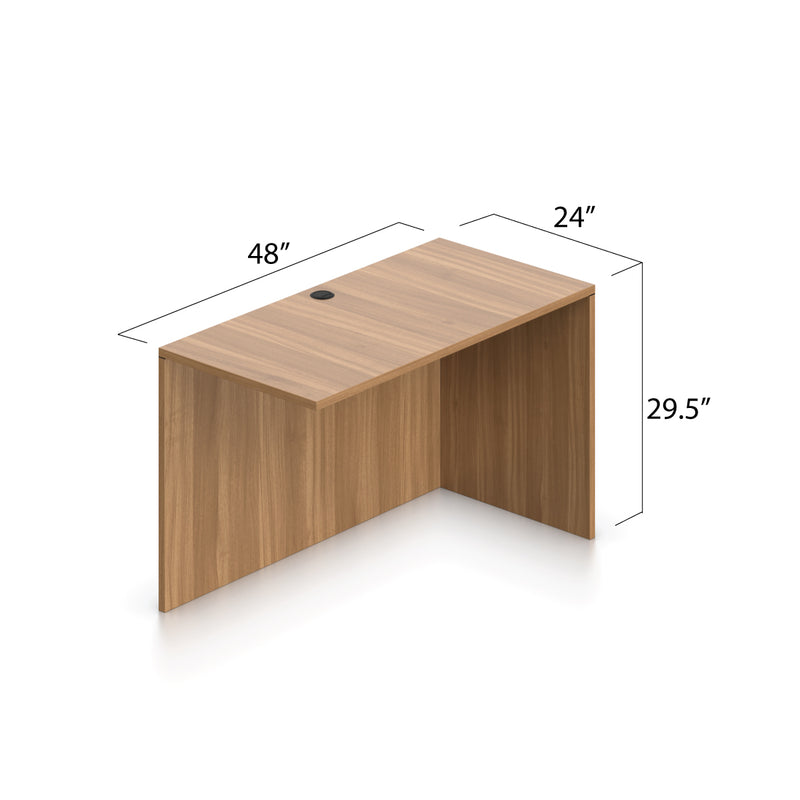 L66D - 5.5' x 6' L-Shape Workstation(Credenza Shell with B/B/F, F/F Pedestal) - Kainosbuy.com