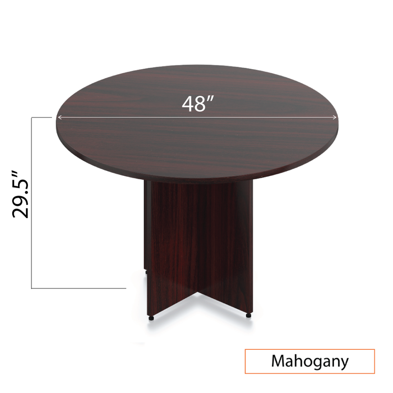 "48"" Round Table/Cross Base with 4 Chairs (G11650B) - Kainosbuy.com"