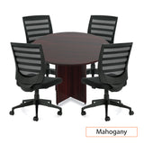 "48"" Round Table/Cross Base with 4 Chairs (G11922B) - Kainosbuy.com"