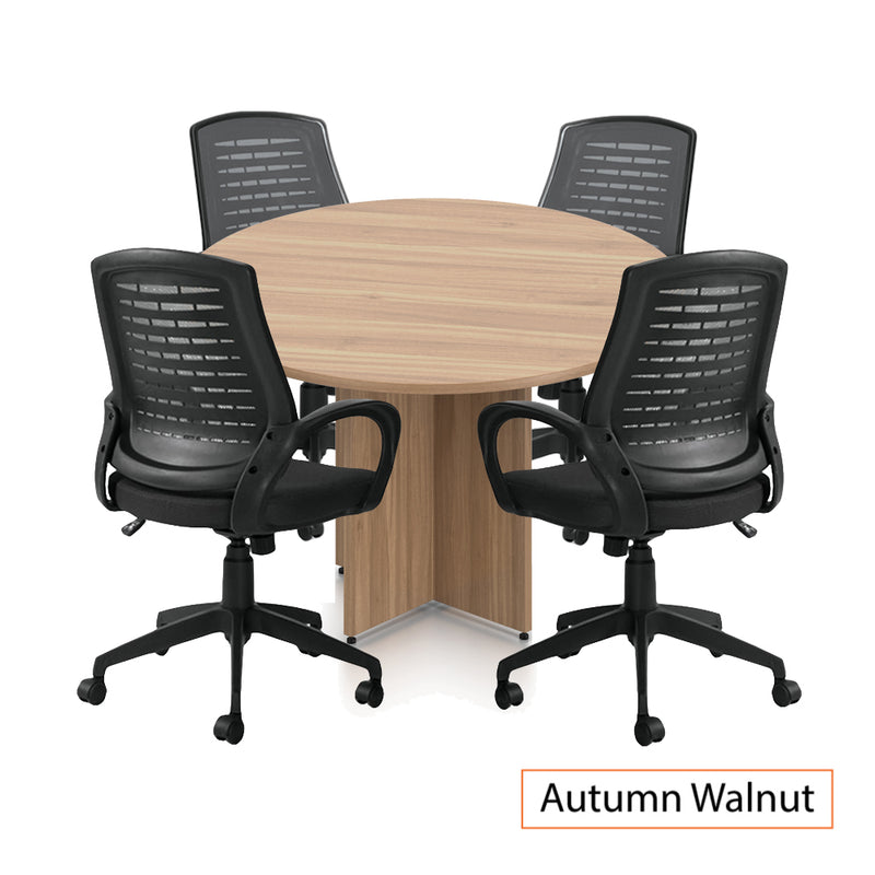 "48"" Round Table/Cross Base with 4 Chairs (G10902B) - Kainosbuy.com"
