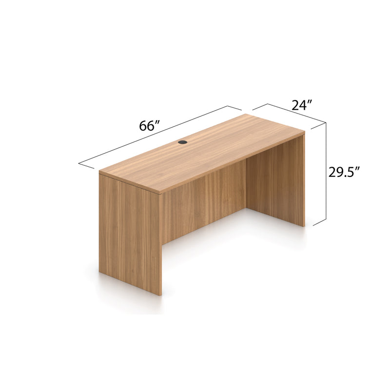 "66""x24"" Credenza shell with B/B/F and F/F pedestal - Kainosbuy.com"