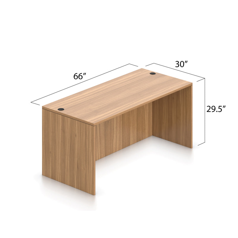 L66B - 5.5' x 5' L-Shape Workstation(Rectangular Desk with Hanging B/F Pedestal) - Kainosbuy.com