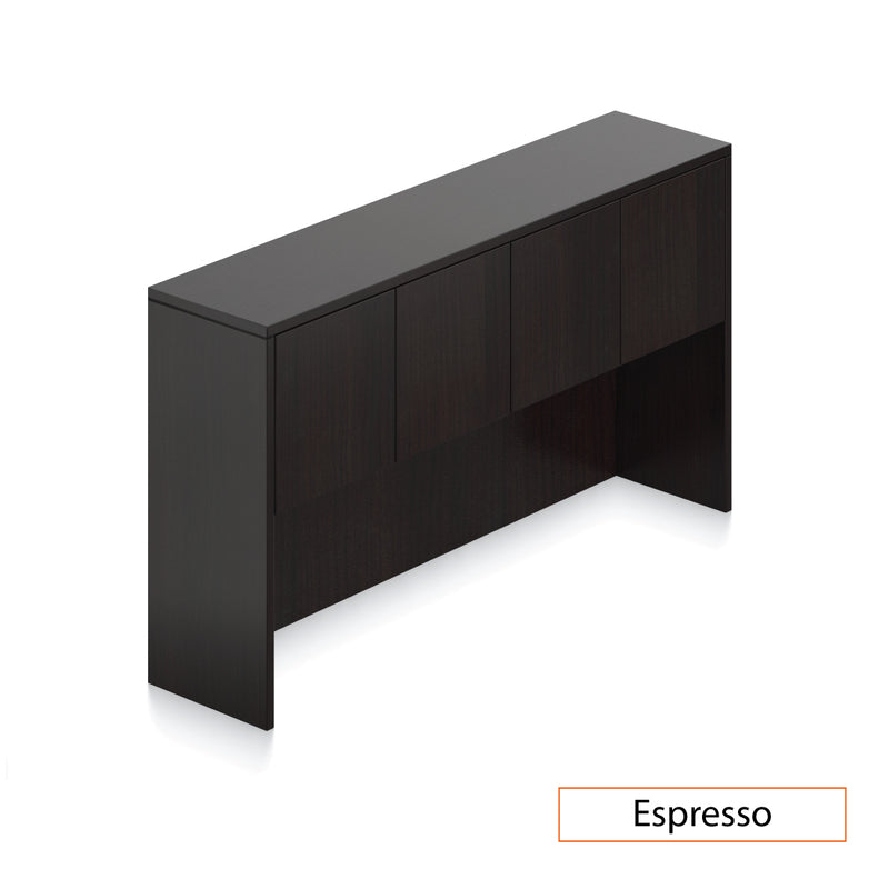 U71C - 6' x 9' U-Shape Workstation(Bow Front Desk with B/B/F and F/F Pedestal) Hutch Added - Kainosbuy.com