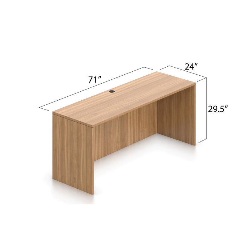 L71C - 6' x 5.5' L-Shape Workstation(Credenza Shell with B/B/F, F/F Pedestal) - Kainosbuy.com