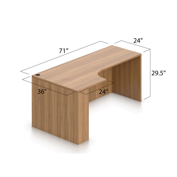 "Credenza with Corner Extension(Left) 71"" x 36"" - Kainosbuy.com"