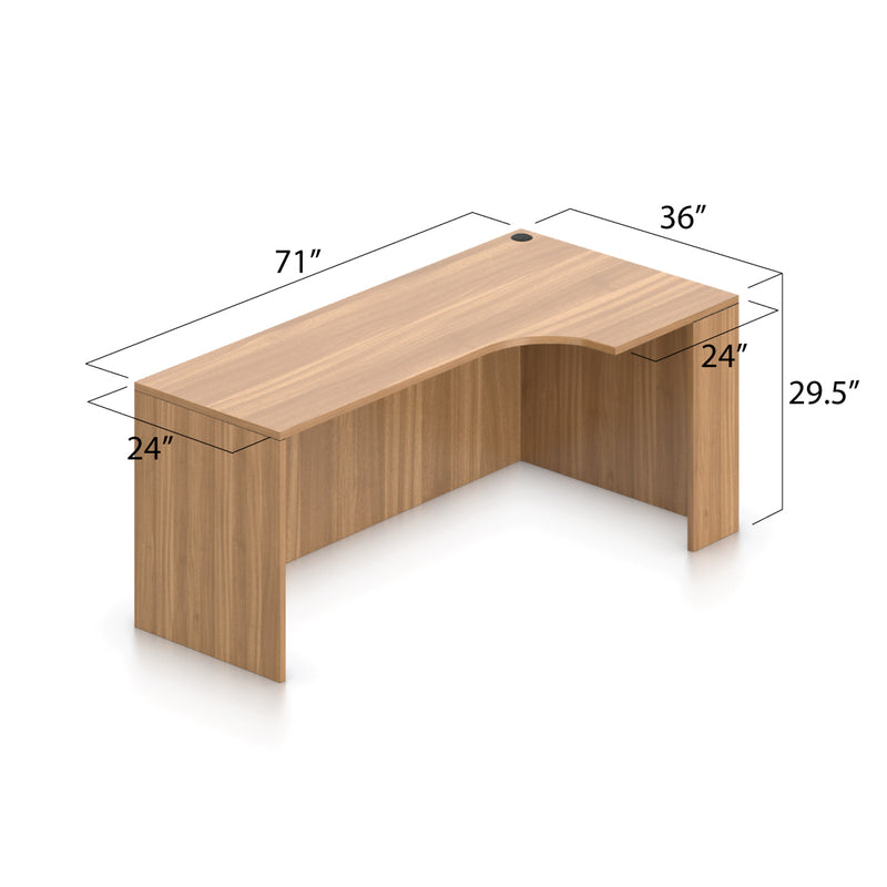 U71F - 6' x 10.5' U-Shape Workstation(Bow Front Corner Extension Desk with B/B/F and F/F Pedestal) - Kainosbuy.com
