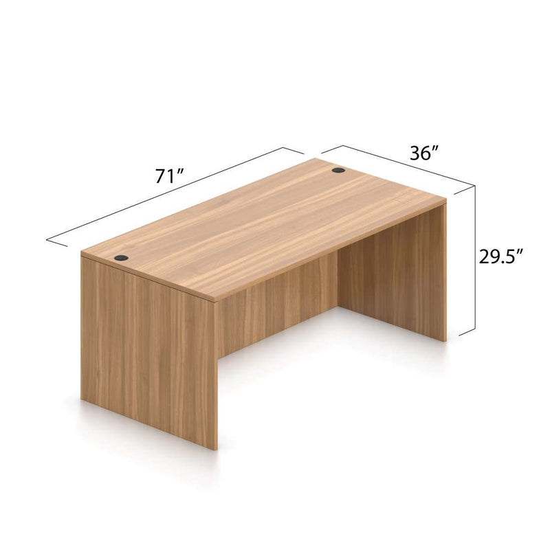 "Rectangular Desk Shell 71"" x 36"" - Kainosbuy.com"