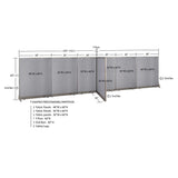 GOF Office T-Shaped Partition 36D x 228W x 60H - Kainosbuy.com