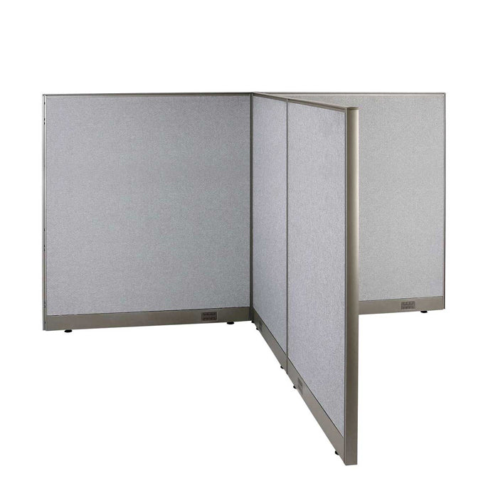 GOF Office T-Shaped Partition 72D x 96W x 60H - Kainosbuy.com