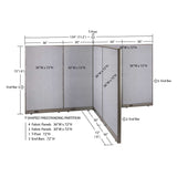 GOF Office T-Shaped Partition 72D x 132W x 72H - Kainosbuy.com