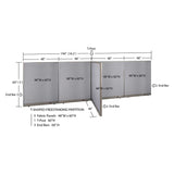 GOF Office T-Shaped Partition 48D x 192W x 60H - Kainosbuy.com