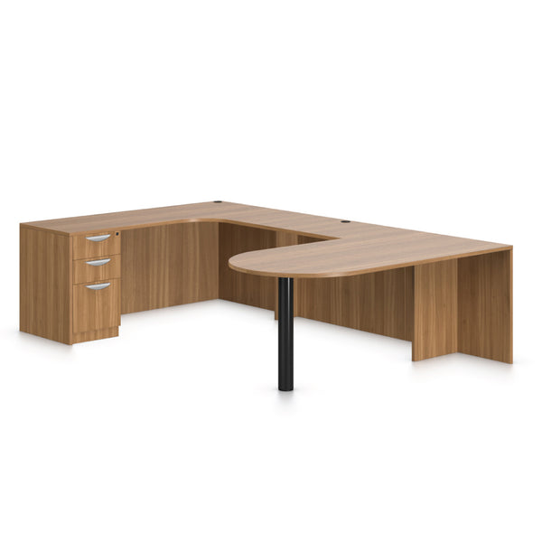 U71D - 6' x 9.5' U-Shape Workstation(Island D with B/B/F Pedestal) - Kainosbuy.com