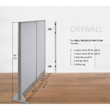 GOF Wallmounted Office Partition<BR>66W x 60H - Kainosbuy.com