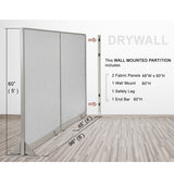 GOF Wallmounted Office Partition  96W x 60H - Kainosbuy.com