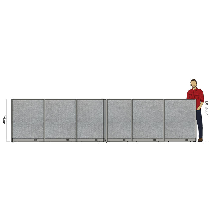 GOF Office X-Shaped Partition 60D x 204W x 48H - Kainosbuy.com