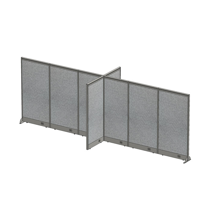 GOF Office X-Shaped Partition 60D x 204W x 72H - Kainosbuy.com
